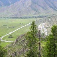 Чуйский тракт к перевалу Чике-Таман. :: Олег Афанасьевич Сергеев