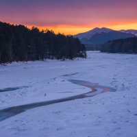 Закат в горах :: Sergey Oslopov