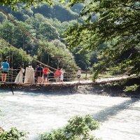 Мост через горную речку :: Александр Ханин