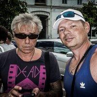 Случайный снимок не случайной встречи...(селфи с легендой) :: Sergey Bagach