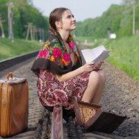 Девушка читает письмо от милого своего :: Екатерина Бутко