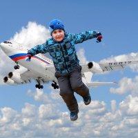 Если рядом с Вашим домом аэропорт - не ставьте детям батут! :) :: Детский и семейный фотограф Владимир Кот