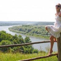 на фоне Оки :: Елизавета Смирнова