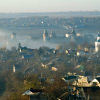 Туманное утро. :: Николай Сидаш