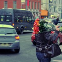 тяжелая мужская ноша:) :: Юлия Годовникова