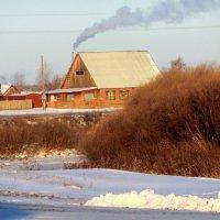 река Каргат зимой :: Василий Щербаков