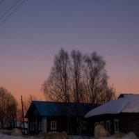 Весенний вечер в деревне...(Весенне-закатное небо...) :: Артём Бояринцев
