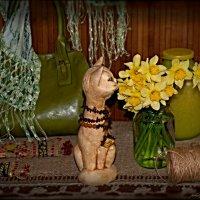 кот и цветы :: Olga Zhukova