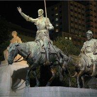 Памятник Сервантесу, Дон Кихоту и Санчо Панса в Мадриде. :: Lmark
