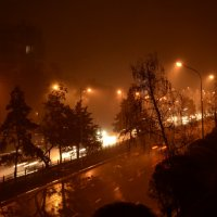 Ненастная ночная Алма-Ата :: Alexandr Ivanoff