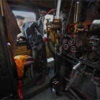 """В паровозной будке 2   (из серии """"Железнодорожная тяга"""") :: Виктор Перякин"""