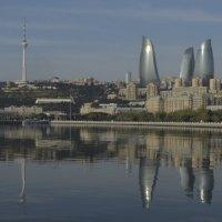 Баку - вид на город в штиль :: Джейхун Мамедбейли
