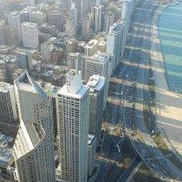 Тени от небоскрёбов Чикаго (вид с 94 этажа небоскрёба JHC) :: Юрий Поляков
