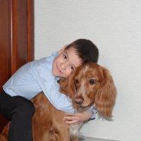 Мальчик с собакой :: Ольга Иргит