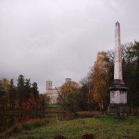 Чесменский обелиск, вид на Гатчинский дворец :: Kiril Stupin