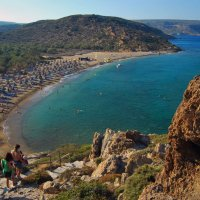 Пальмовый лес и море (Крит) :: Андрей Дмитренко