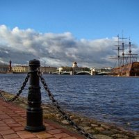 Нева и брег :: Владимир Гилясев
