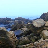 туман над камeнным бeрeгом :: Андрeй Владимир-Молодой
