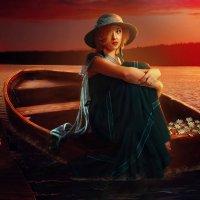 на лодке.... :: Элен Банер