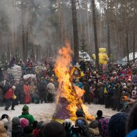 Сожжение масленицы :: Николай Николаенко