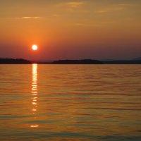 Закат над озером Акакуль :: Роман Суханов