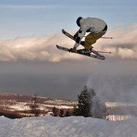 Снег, Байкал, полет :: Алексей Яковлев