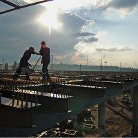 Строительство моста Сиверса :: Даниил Безуглов