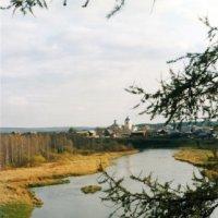 село Слобода, р. Чусовая, вид с высоты 100 ступеней... :: Стил Франс