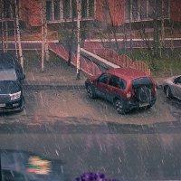 Снег за окном. :: Алексей Хаустов