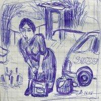 Светлана Романовна с сумками :: Роман Деркаченко
