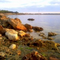 Закат на пляже Омега :: Zinaida Belaniuk