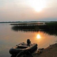 На закате рыбалка :: Наталья