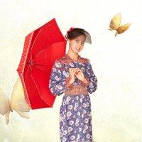 Леди с зонтиком :: Ева Олерских
