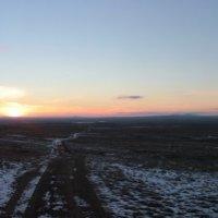 закат в степи :: Савелий Мельник