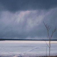 снежный заряд над озером :: вадим измайлов
