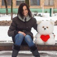 Прогулка с медвежонком :: Евгения Ермолаева