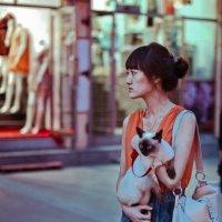 Девушка с кошкой :: Анастасия Каганович