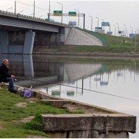 Ловись рыбка в Москве-реке. :: Владислав Куликов