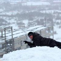 Снежный пляжник! :: Дмитрий Арсеньев