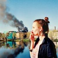 Пожар в городе. :: Ина Ина