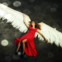 Angel in red :: Alena Kramarenko