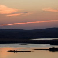 Закат на озере Болшое Чебачье :: Николай Радоснов