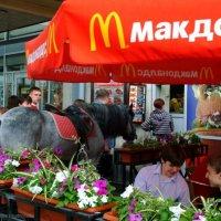 Заказала БигМак, Фанту и неплохо было бы ещё тюк сена. :: Александр Логунов