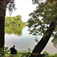С утра сидит на озере любитель рыболов :: Ирина Бирюкова
