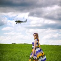Улетает самолет.. :: Елена