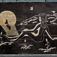 В 70-80х,популярное творчество.Рисунок на дереве. :: Игорь Чичиль