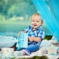 Детская фотосессия на годик :: марина алексеева