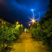 Гроза. Пенза (16.05.14) Фото 2 :: Алексей Макеев