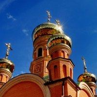 Киев.Купола в солнечном сиянии.. :: Елена