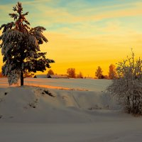 Закат над деревней... :: Федор Кованский
